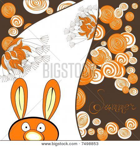Decorative card with rabbit