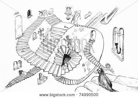 Escher Style Drawing