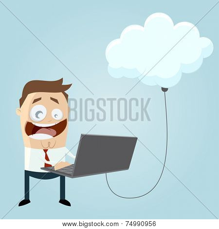 business man is cloud computing