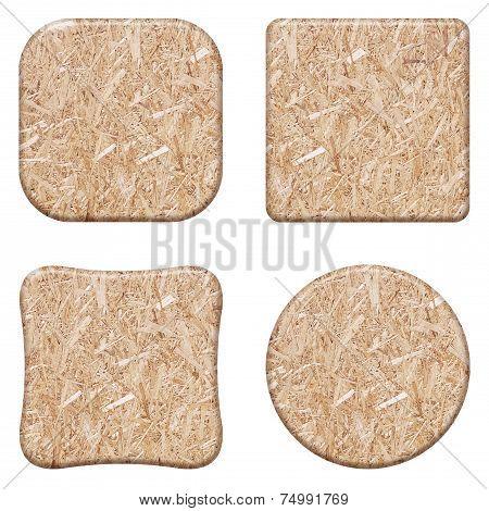 Set compressed light brown wooden chipboard t