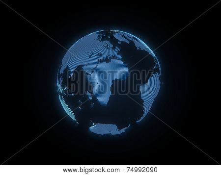 The hologram of the earth