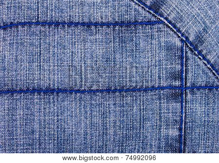 Decorated  Jeans Background