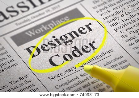 Designer Coder Jobs in Newspaper.