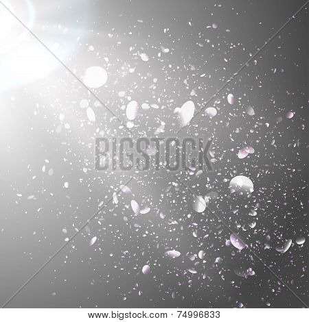 Abstract background with light and bokeh