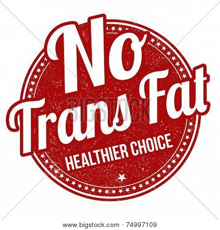 No Trans Fat Stamp