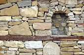 pic of niche  - Old Stone Wall with Niche - JPG