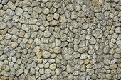image of old stone fence  - Stone Wall with Random Tiled Pattern - JPG