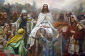 foto of israel people  - Jesus on Palm Sunday - JPG
