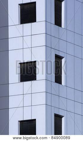 Windows on an office building, Gurgaon, Haryana, India