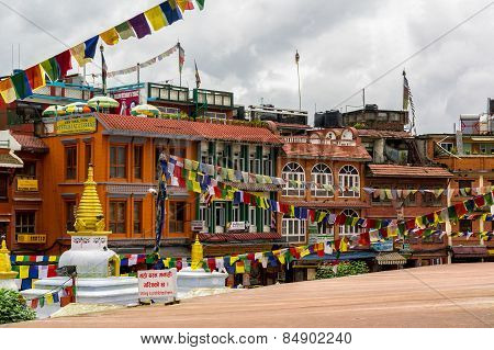Buildings Around Boudhanath Stupa