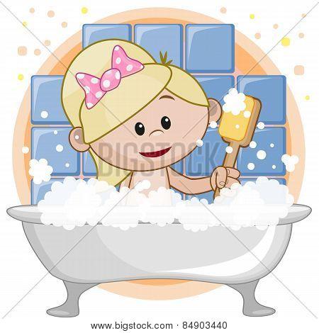 Cute Girl In The Bathroom