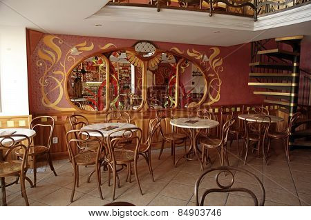Old Cafe Interior In Typical Viennese Style,bratislava