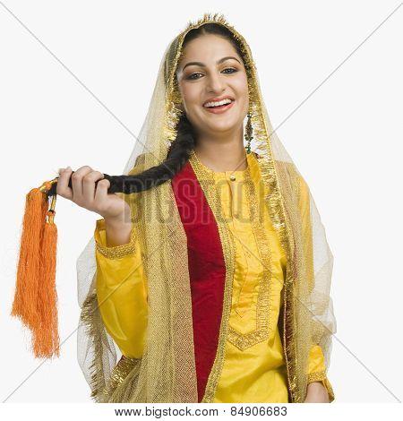 Woman in traditional Punjabi dress