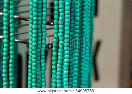 Handmade blue green jewelery.