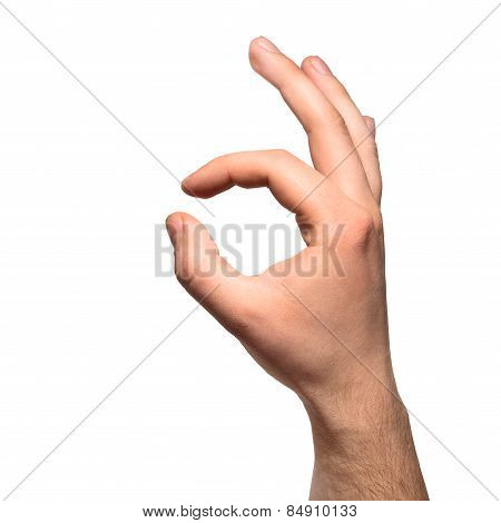 Okay male hand gesture sign