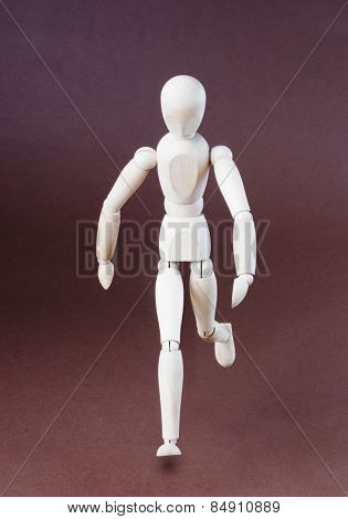 Close-up of an artist's figurine
