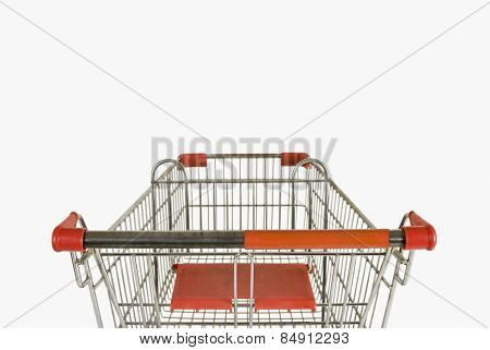 Rear view of a shopping cart