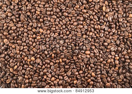 Coffee bean surface as a background