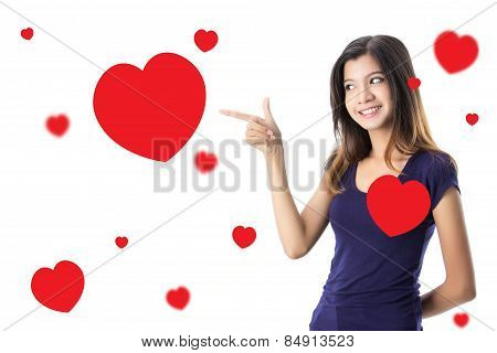 Lovely Asian girl looking for real love on Valentine day