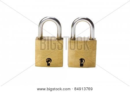 Close-up of two padlocks next to each other