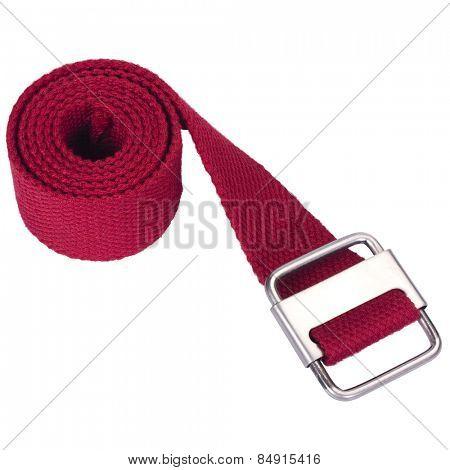 Close-up of a woven cotton belt