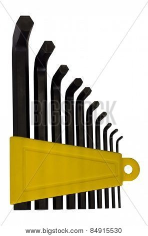 Collection of hex keys
