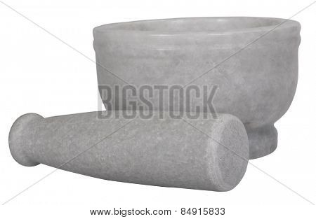 A mortar and pestle