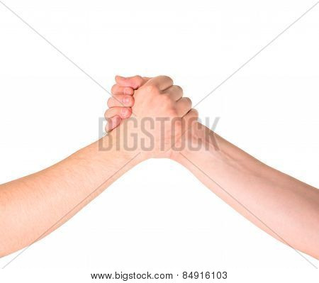 Arm wrestling composition isolated
