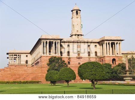 Facade of a government building, Rashtrapati Bhavan, New Delhi, India