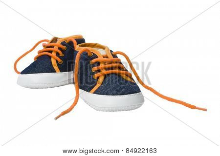Close-up of a pair of canvas shoes