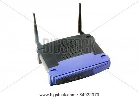 Close-up of a wireless modem