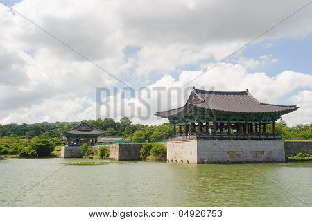 Gyeongju, Korea - August 9, 2010: Donggung And Wolji