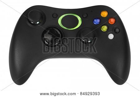Close-up of a video game controller