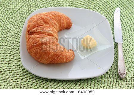 Golden Croissant For Breakfast
