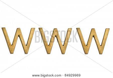 Close-up of world wide web acronym