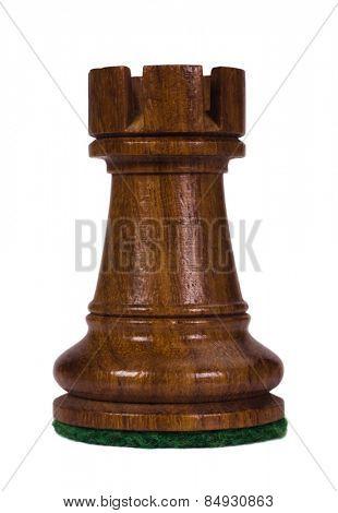 Close-up of a rook chess piece