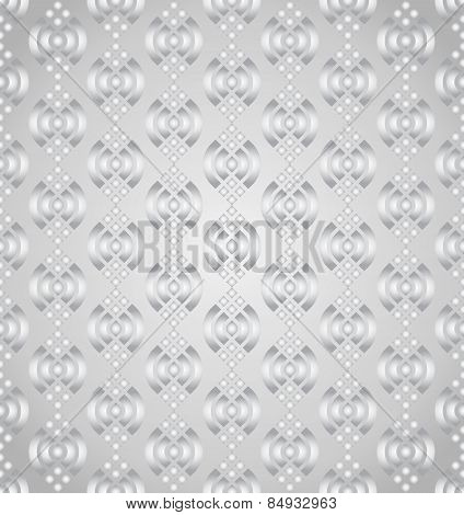 Silver Abstract Lotus Seamless Pattern On Pastel Background