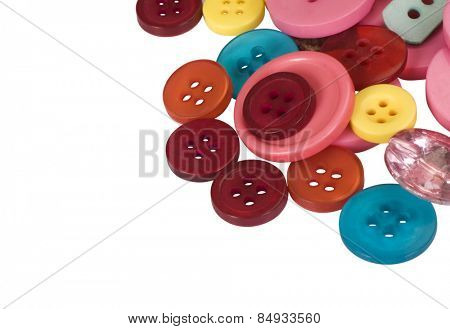 Close-up of assorted buttons