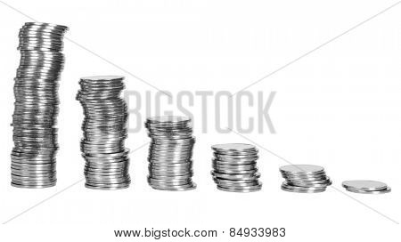 Stacks of coins in decreasing order