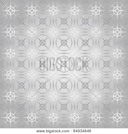Silver Circle And Square And Hexagon Seamless Pattern