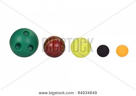 Balls arranged in descending order