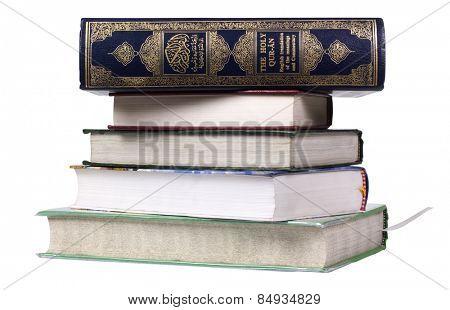 Stack of religious books
