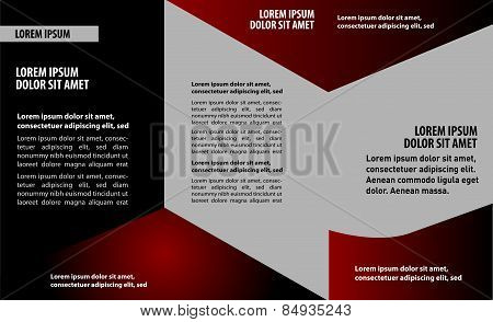 Vector trifold flyer template design