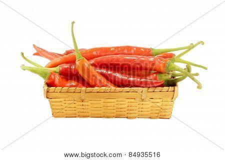 Red Pepper In Basket