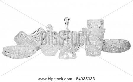 Assorted crystal utensils