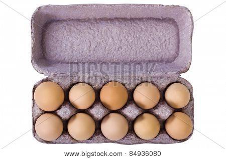 Close-up of a carton of eggs