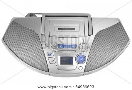 Close-up of a stereo CD Player