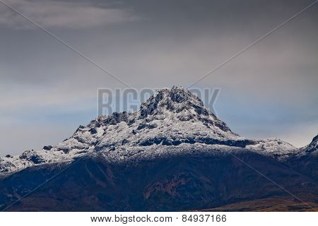Illinizas seen from Cotopaxi volcano in Ecuador