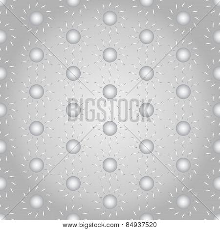 Silver Sun Seamless Pattern On Pastel Background