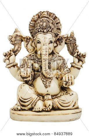 Close-up of a figurine of Lord Ganesha